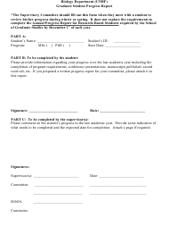 """Graduate Student Progress Report Form - University of New Brunswick"" - New Brunswick, Canada"