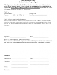 Graduate Student Progress Report Form - University of New Brunswick - New Brunswick