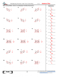 multiplying fractions with cross cancelling worksheet with answers  multiplying fractions with cross cancelling worksheet with answers page