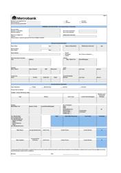 Business Loan Application Form - Metrobank