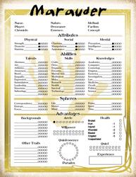 Mage the Ascension Marauder Character Sheet