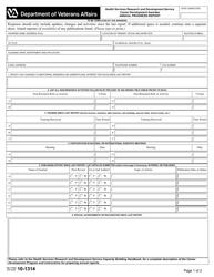 VA Form 10-1314  Fillable Pdf