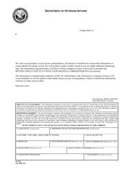 VA Form FL 70-2  Fillable Pdf