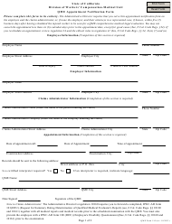 "Form 110 ""Qme Appointment Notification Form"" - California"