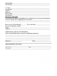 """Employment Application Form"", Page 2"