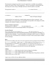 Roommate Contract Template - Iowa