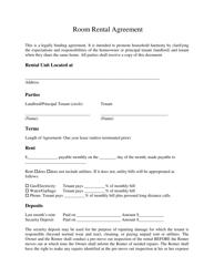 """Room Rental Agreement Form"""