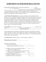 """Real Estate Purchase Agreement Template"""