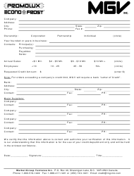 """Business Credit Application Form - Market Group Ventures Inc"""