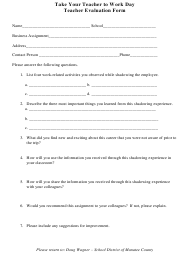 """Teacher Evaluation Form - School District of Manatee County"""