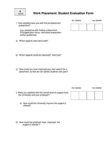 """Student Evaluation Form"" Download Pdf"