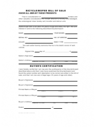 Form CS-L(SS)47 Bicycle/Moped Bill of Sale - Hawaii