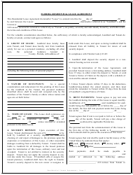 Residential Lease Agreement Template - Florida