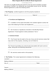 Month-To-Month Rental Agreement Template - West Virginia