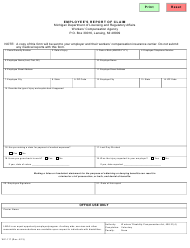 Form WC-117 Employee's Report of Claim - Michigan