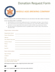 """Donation Request Form - Middle Ages Brewing Company"""