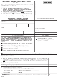 "Form UCC-4 ""Request for Information or Copies"" - Idaho"