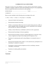 """Candidate Evaluation Form"""
