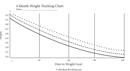 """4 Month Weight Tracking Chart"" Download Pdf"