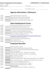 """New Employee Orientation Checklist Template"""