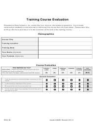 Training Course Evaluation Form - Educational Data Systems