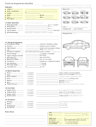 """""""Used Car Inspection Checklist Template"""""""