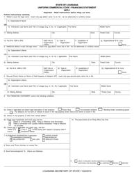 "Form UCC-1 ""Uniform Commercial Code - Financing Statement"" - Louisiana"