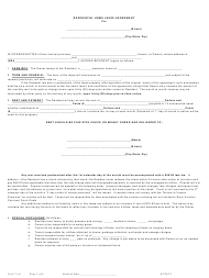"""Residential Home Lease Agreement Template"""