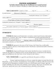 """Escrow Agreement Template"""