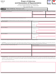 "Form GEN-58 ""Power of Attorney and Declaration of Representative"" - North Carolina"