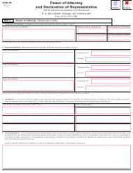 Form GEN-58 Power of Attorney and Declaration of Representative - North Carolina
