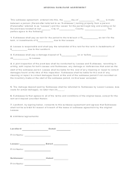 """Sublease Agreement Template"" - Arizona"