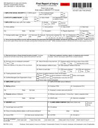 "Form MNFR01 ""First Report of Injury"" - Minnesota"