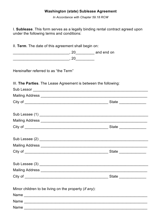 Sublease Agreement Template Download Fillable Pdf Templateroller