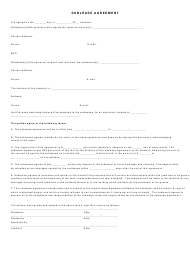 """Sublease Agreement Template"""
