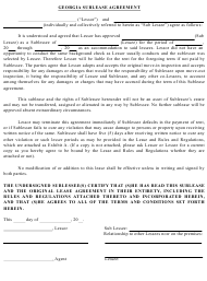 """Sublease Agreement Template"" - Georgia (United States)"