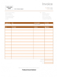 Brown Business Invoice Template