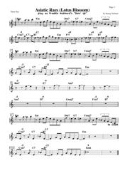 Kenny Dorham - Asiatic Raes (Lotus Blossom) Tenor Sax Sheet Music