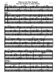 Prince - Thieves in the Temple Sheet Music