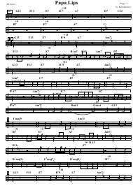 """Bob Mintzer - Papa Lips Sheet Music and Chords"""