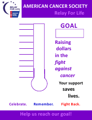 """Fundraising Thermometer Template - American Cancer Society"""