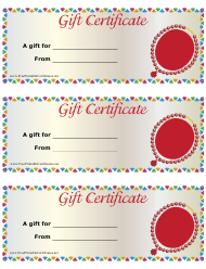 """""""Gift Certificate Template - Jewelry"""""""