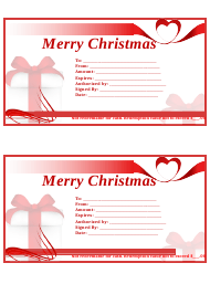 """""""Christmas Gift Certificate Template"""""""