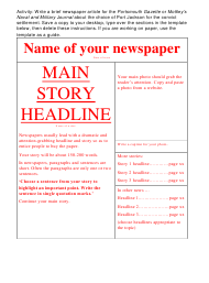 """Newspaper Layout Template"""
