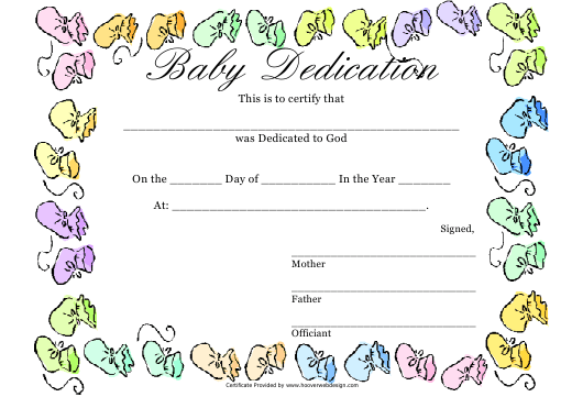 Baby Dedication Certificate Template | Baby Dedication Certificate Template Download Printable Pdf