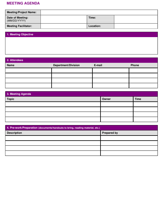 """""""Project Meeting Minutes Template"""" Download Pdf"""