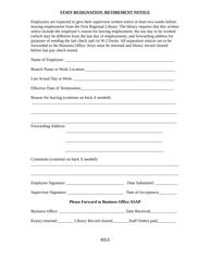 Form 115.5 Staff Resignation/Retirement Notice Form