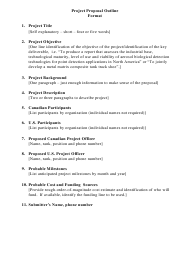 """Project Proposal Outline Template"""