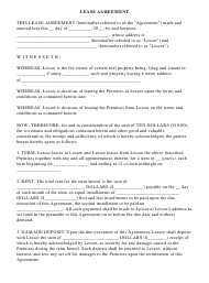 """Lease Agreement Template"""