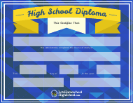 """High School Diploma Certificate Template"""